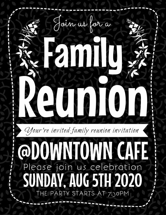 Family Reunion Flyer Templates Best Of Family Reunion Flyer Template