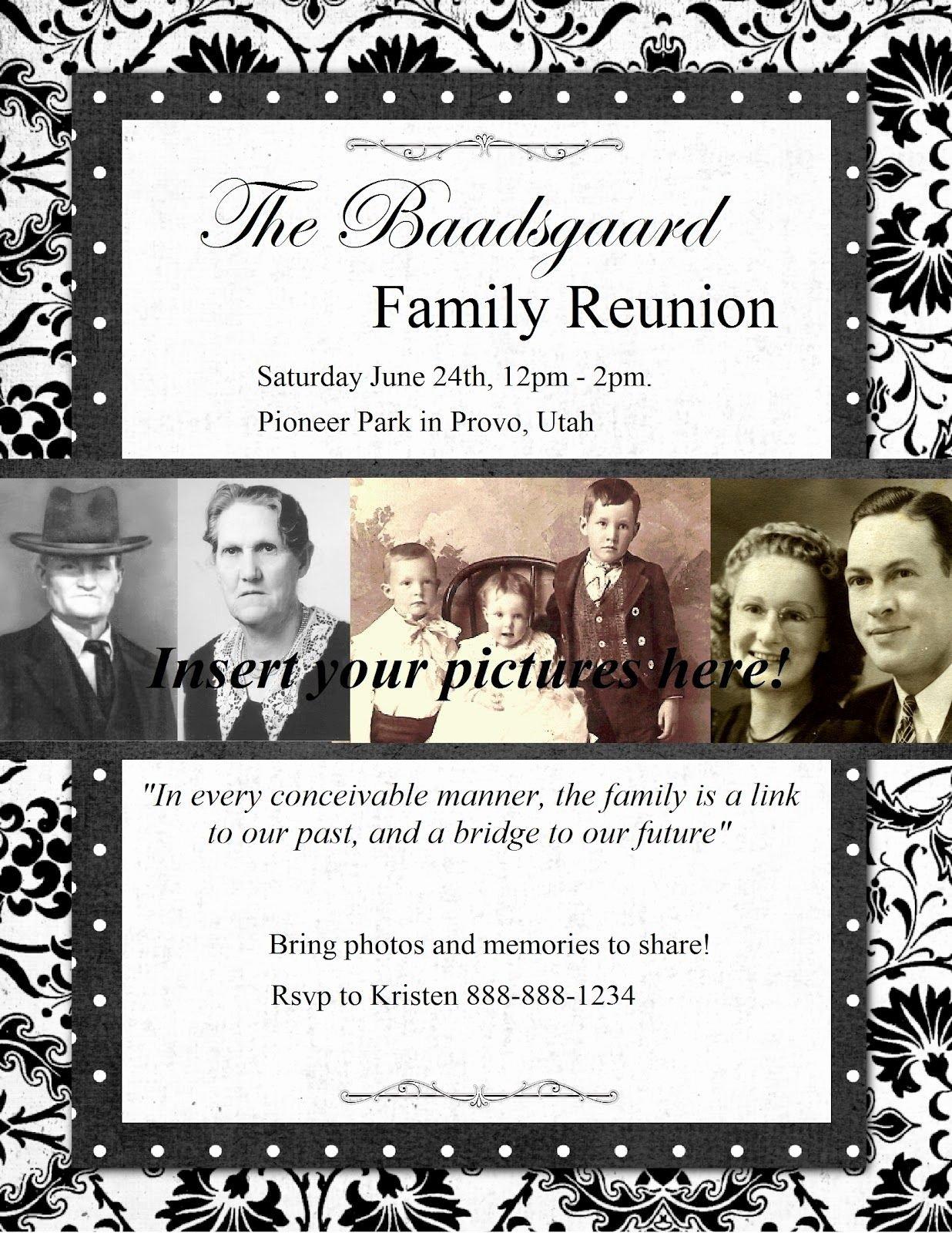 Family Reunion Flyer Templates Fresh Free Printable Family Get togethr