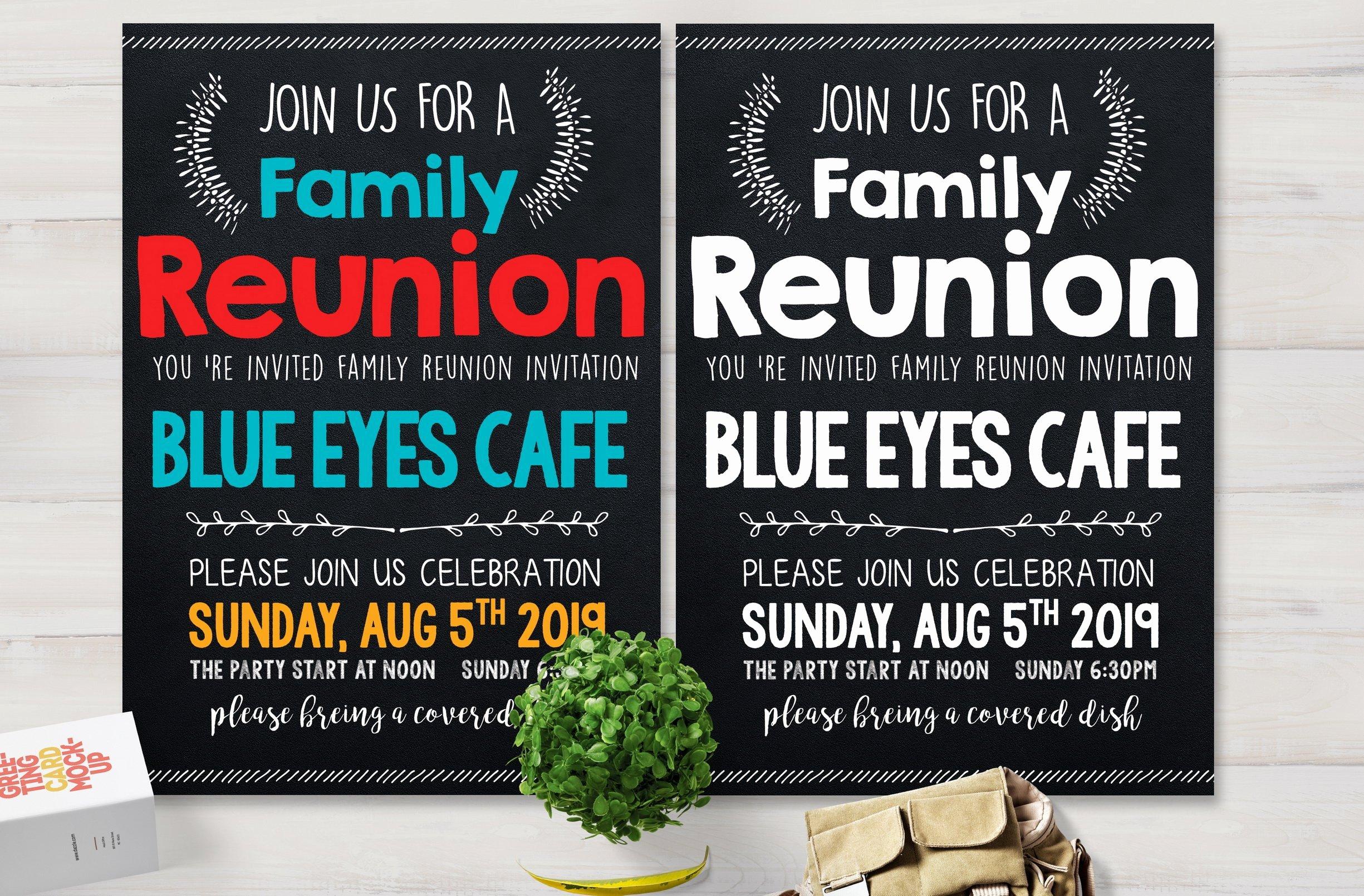 Family Reunion Flyer Templates Inspirational Family Reunion Party Flyer Card Templates Creative Market