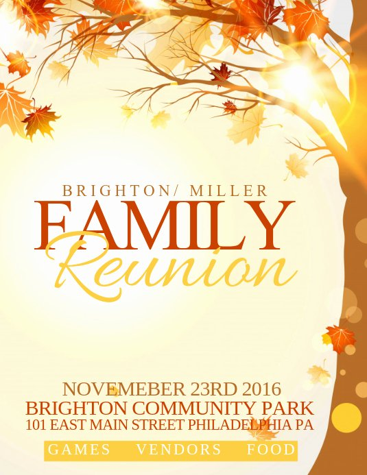 Family Reunion Flyer Templates Inspirational Family Reunion Template
