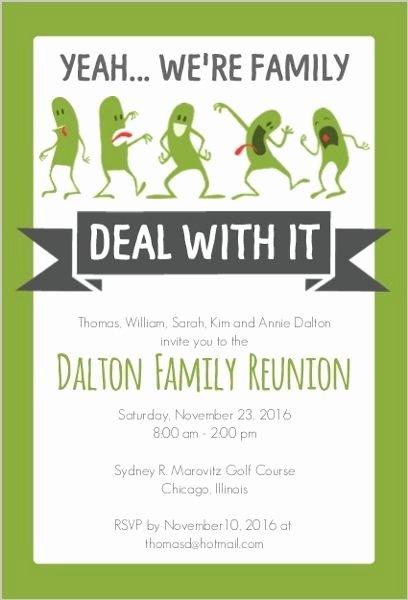 Family Reunion Flyer Templates Luxury Funny Family Reunion Invitation … Family History