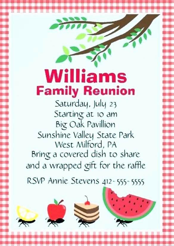 Family Reunion Flyer Templates New Great Family Reunion Invitation Templates Free Picture
