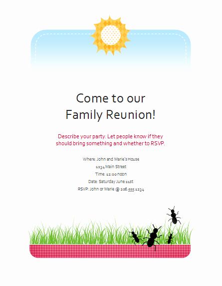 Family Reunion Flyer Templates Unique Download Family Reunion Flyer Free Flyer Templates for