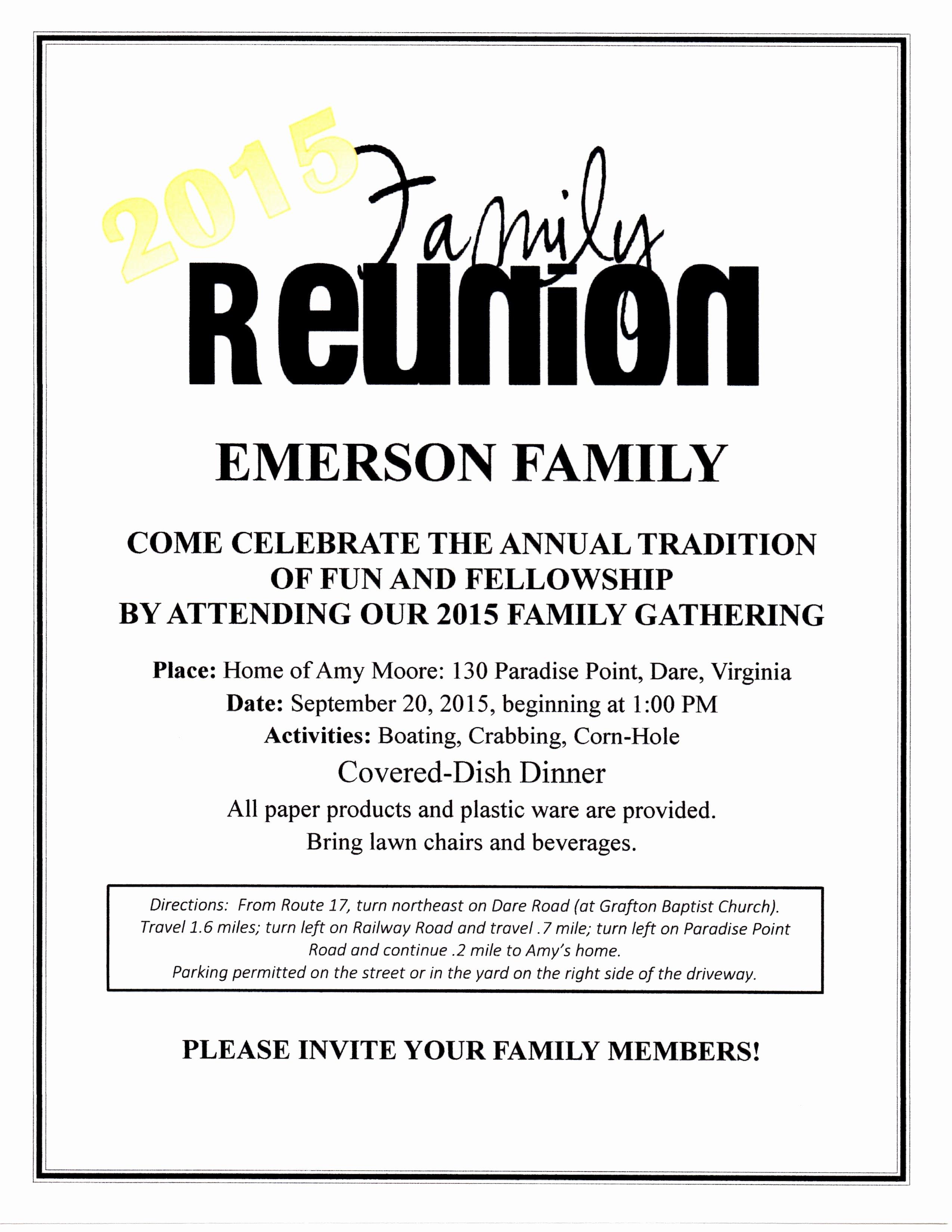 Family Reunion Flyer Templates Unique Family Reunion Flyer – Tinman Designs Family Reunion