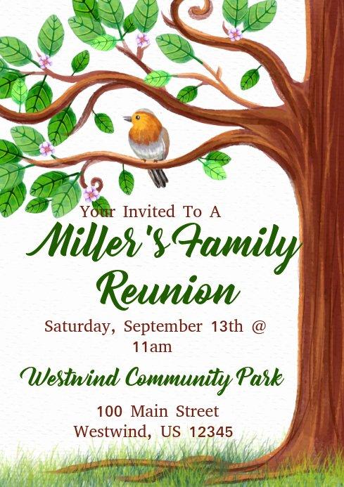 Family Reunion Flyer Templates Unique Family Reunion Template