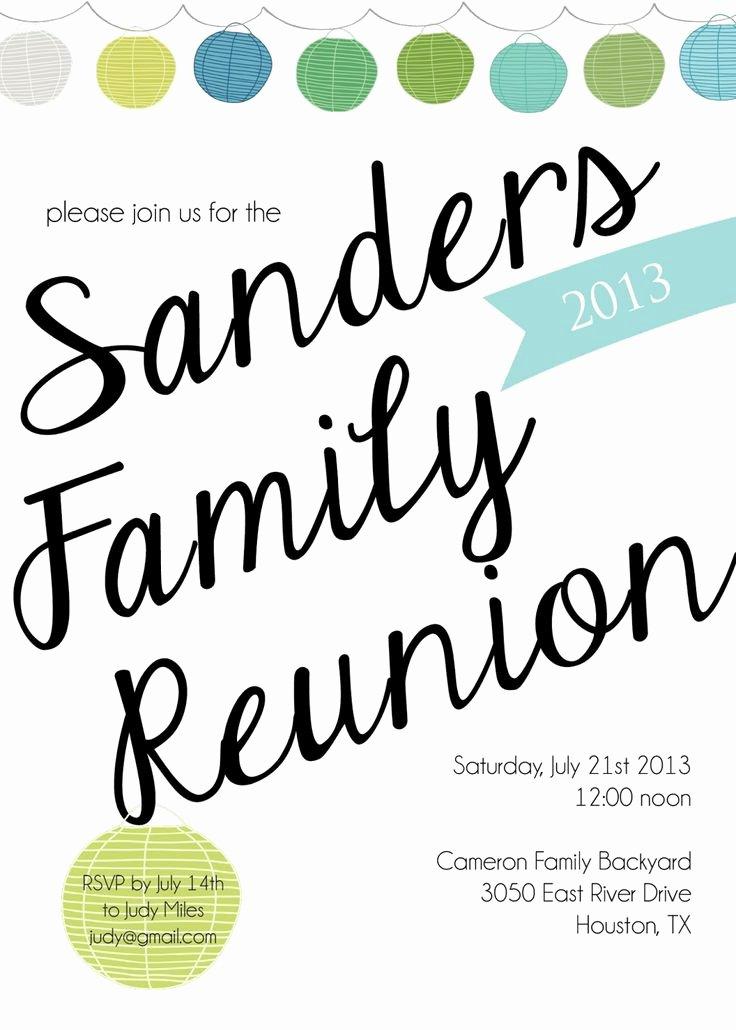 Family Reunion Invitation Templates Free Awesome Family Reunion Invitation Templates