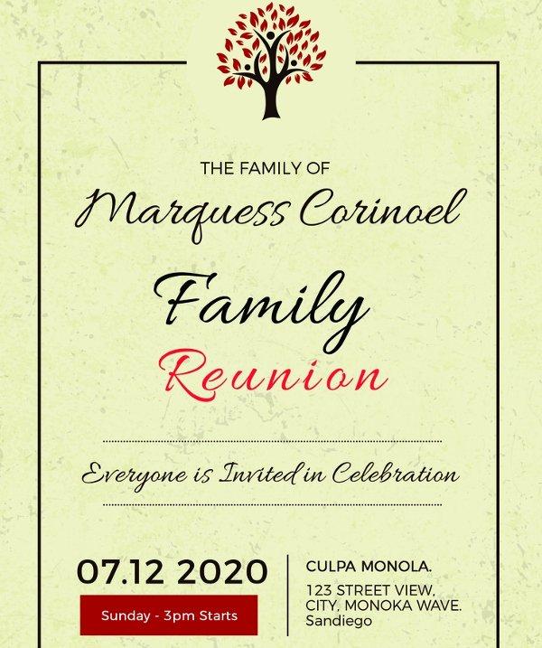 Family Reunion Invitation Templates Free Beautiful 34 Family Reunion Invitation Template Free Psd Vector