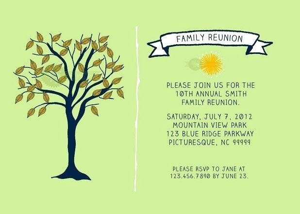 Family Reunion Invitation Templates Free Best Of Family Reunion Invitations Templates