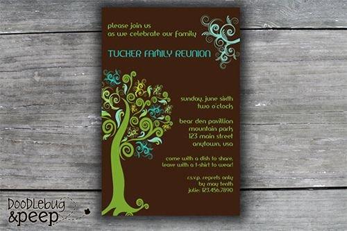 Family Reunion Invitation Templates Free Elegant Best 25 Family Reunion Invitations Ideas On Pinterest