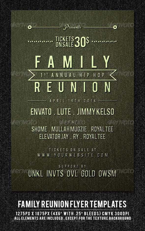 Family Reunion Invitation Templates Free Elegant Family Reunion Flyer Template Maulana Creative
