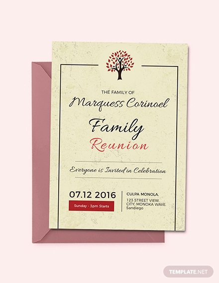 vintage family reunion invitation
