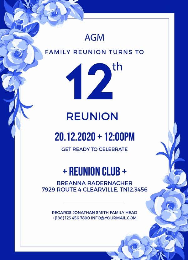 Family Reunion Invitation Templates Free Inspirational 34 Family Reunion Invitation Template Free Psd Vector
