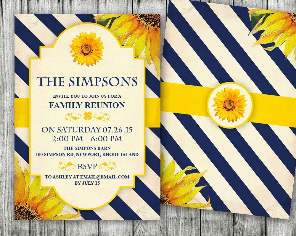 Family Reunion Invitation Templates Free Inspirational Diy Editable Family Reunion Invitation Ms Word Template