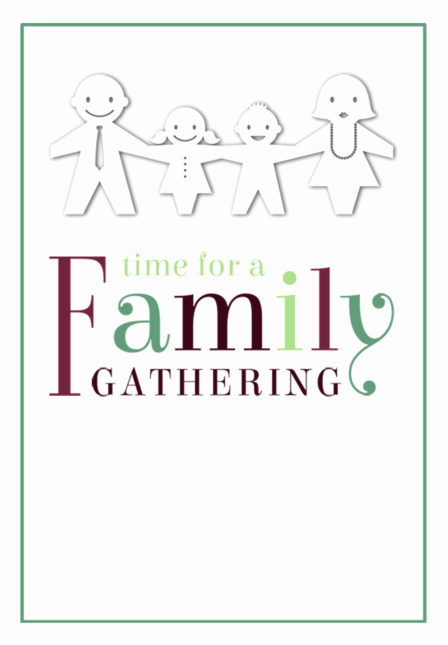 Family Reunion Invitation Templates Free Inspirational Time for A Family Gathering Free Printable Family