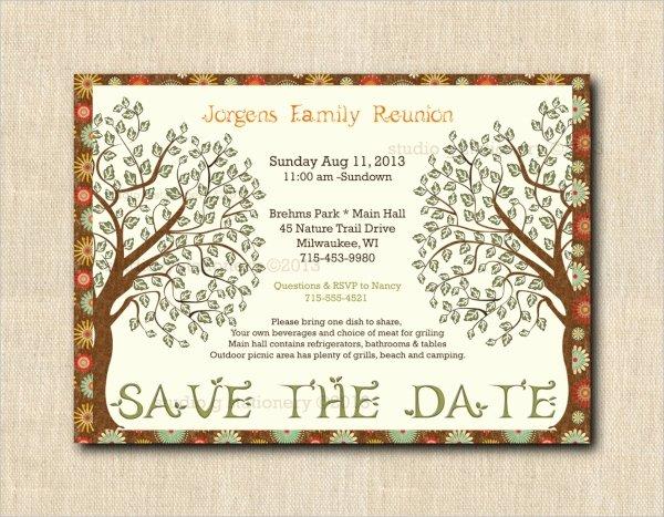 Family Reunion Invitation Templates Free Lovely 16 Sample Family Reunion Invitations Psd Vector Eps