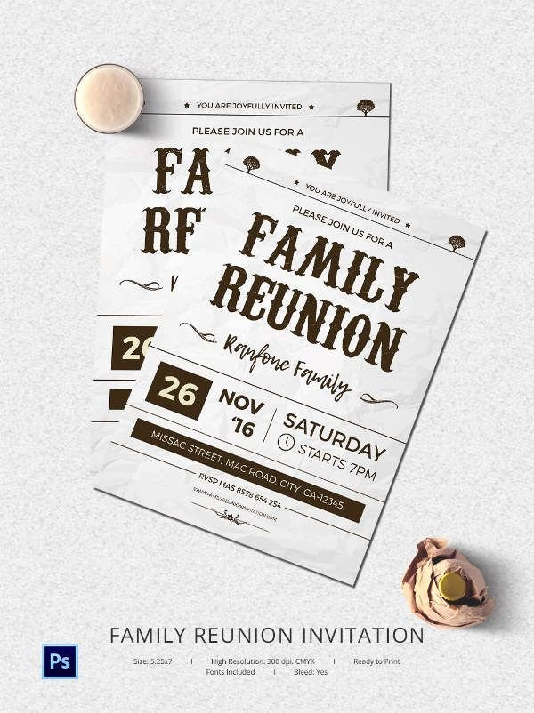 Family Reunion Invitation Templates Free Lovely 25 Family Reunion Invitation Templates Free Psd