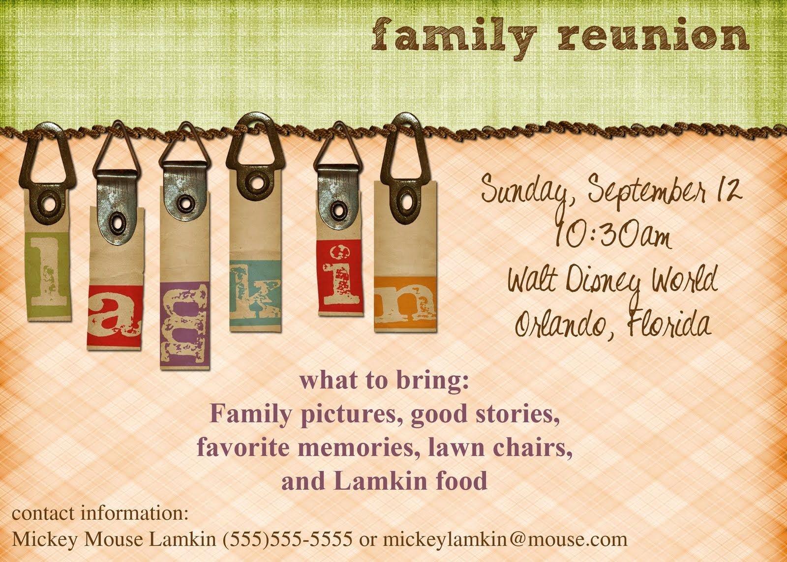 Family Reunion Invitation Templates Free Luxury Viewing Gallery for Family Reunion Invitations