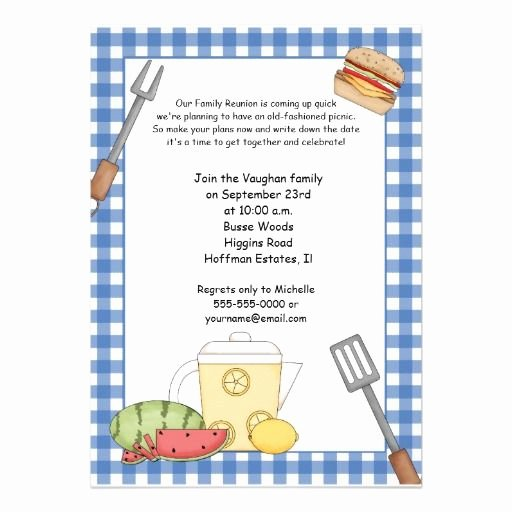 Family Reunion Invitation Templates Free New 1000 Images About Picnic Invites On Pinterest