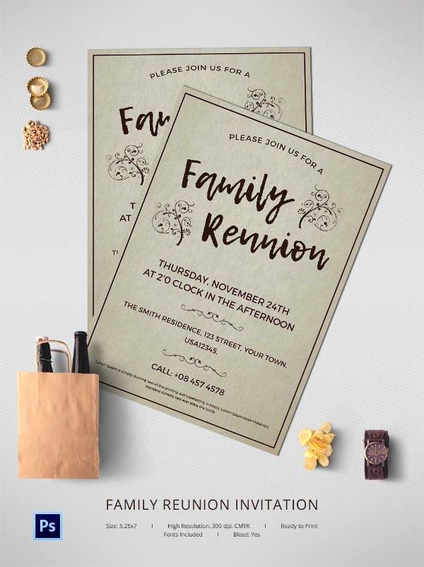 Family Reunion Invitation Templates Free Unique 25 Best Ideas About Family Reunion Invitations On
