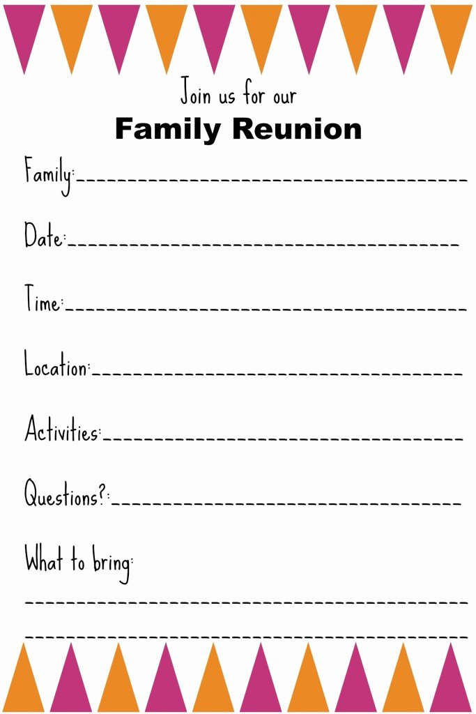 Family Reunion Invitations Templates Beautiful Family Reunion Invitation Templates Ginny S Recipes & Tips
