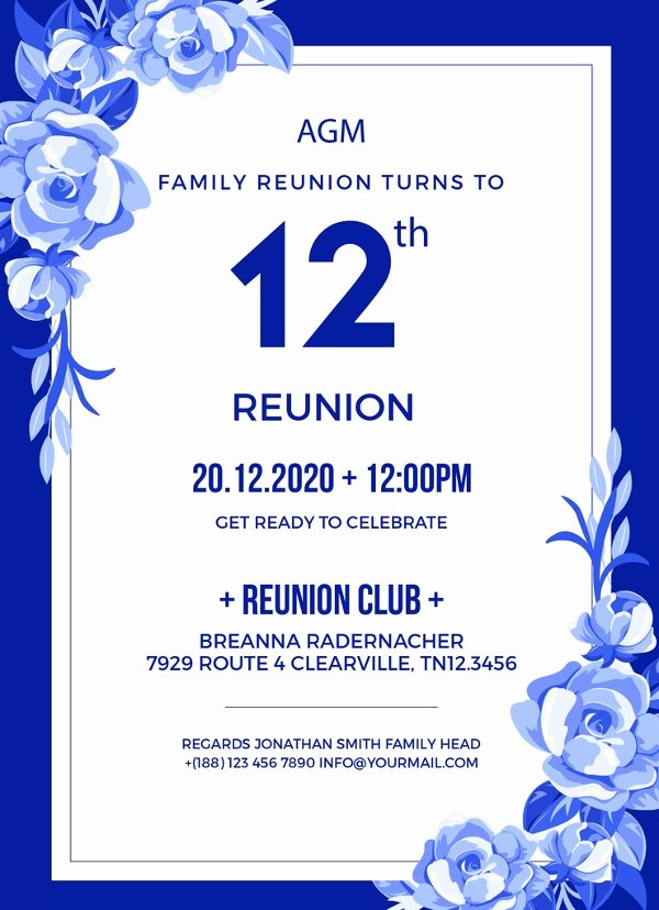 Family Reunion Invitations Templates Best Of 10 Reunion Invitation Templates Psd Ai Vector Eps