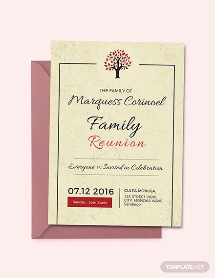Family Reunion Invitations Templates Best Of 35 Family Reunion Invitation Templates Psd Vector Eps