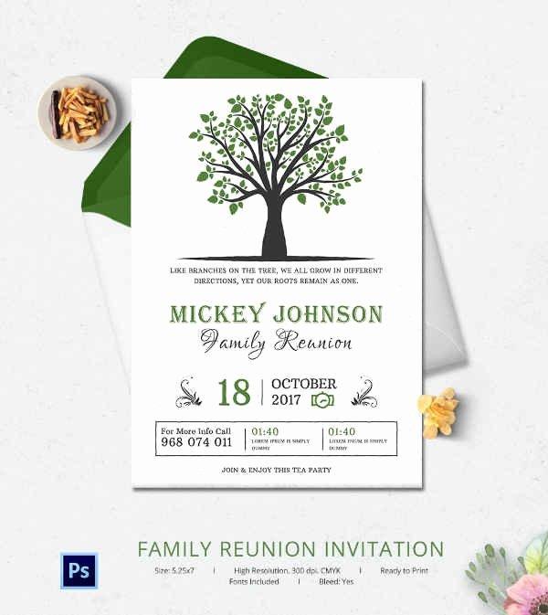 Family Reunion Invitations Templates Elegant 32 Family Reunion Invitation Templates Free Psd Vector