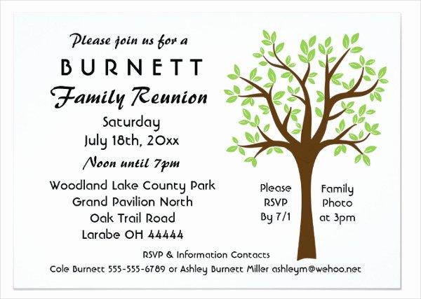 Family Reunion Invitations Templates Fresh 19 Family Reunion Invitation Templates Free & Premium