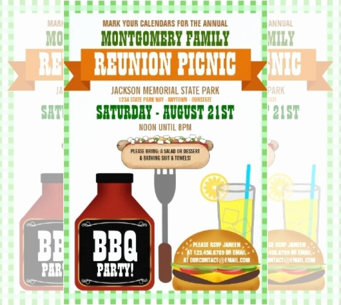 Family Reunion Invitations Templates Fresh Awesome Printable Family Reunion Invitation Templates