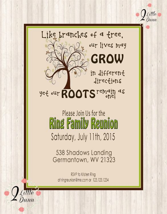 Family Reunion Invitations Templates Inspirational 25 Family Reunion Invitation Templates Free Psd