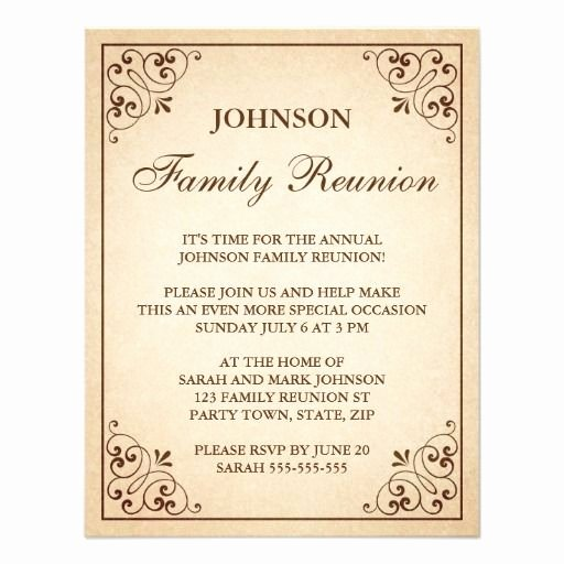 Family Reunion Invitations Templates Inspirational Family Reunion Invitations Invitations