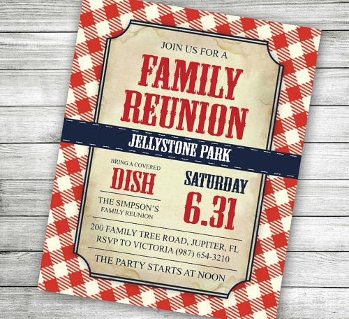 Family Reunion Invitations Templates Lovely 35 Family Reunion Invitation Templates Psd Vector Eps
