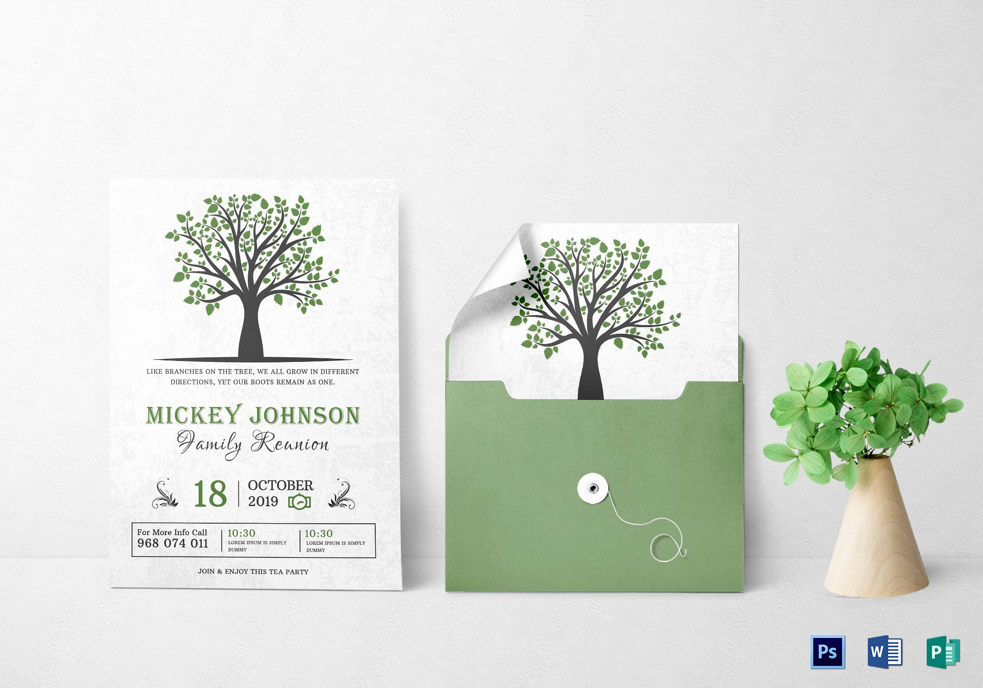 Family Reunion Invitations Templates Lovely Classic Family Reunion Invitation Design Template In Word