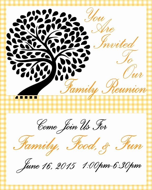 Family Reunion Invitations Templates Lovely Family Reunion Invitation Free Printable