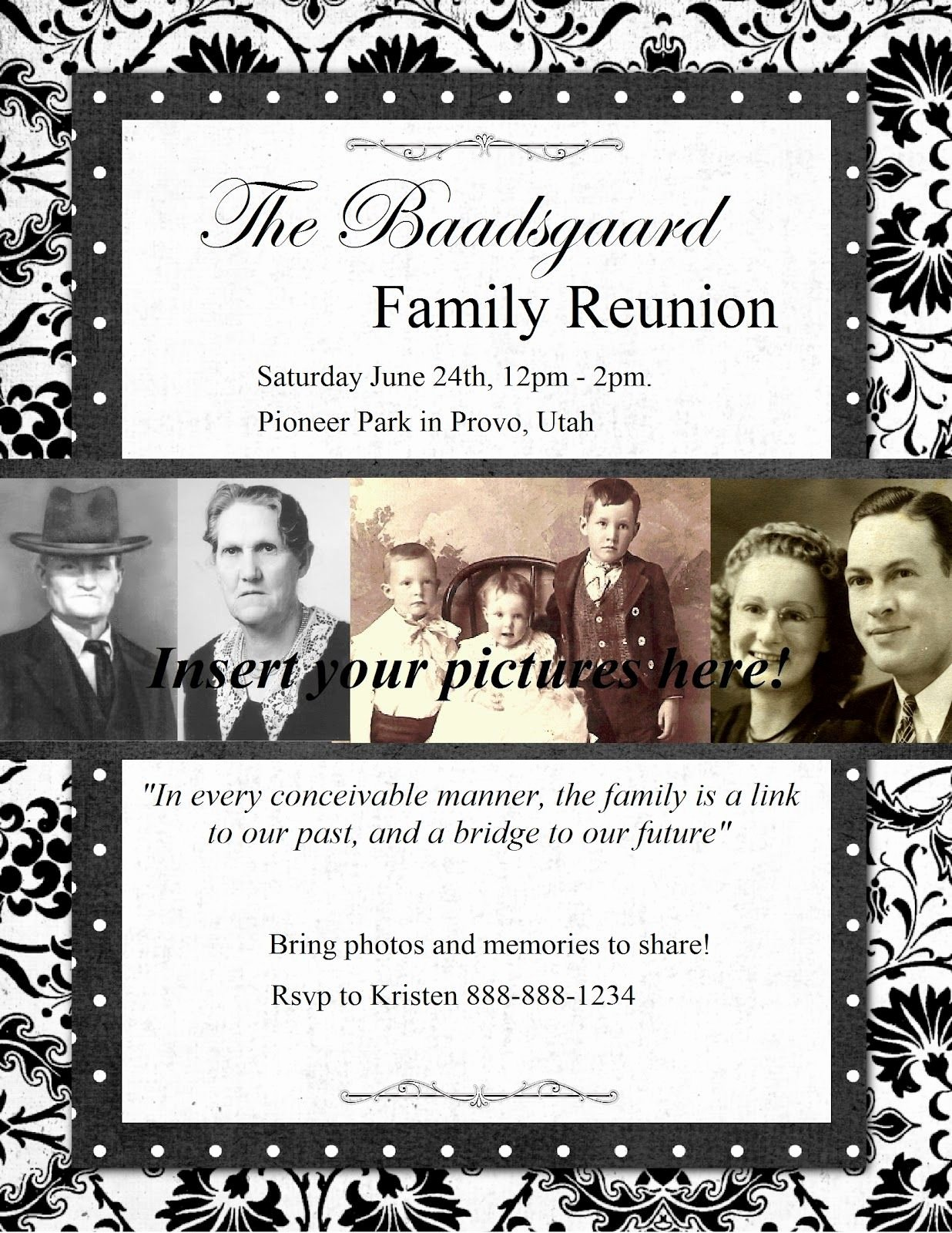 Family Reunion Invitations Templates Lovely Free Printable Family Get togethr