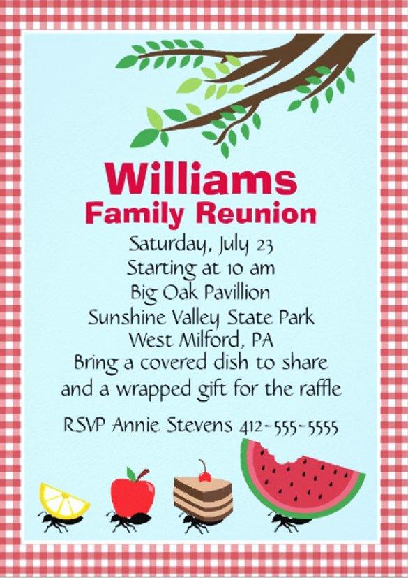 Family Reunion Invitations Templates Luxury 24 Picnic Invitation Template Psd Eps Ai