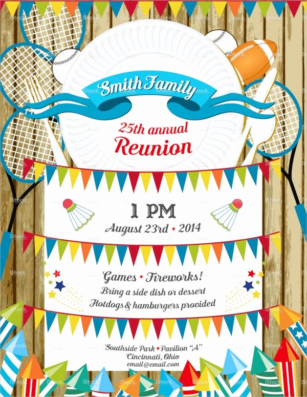 Family Reunion Invitations Templates Unique 16 Sample Family Reunion Invitations Psd Vector Eps