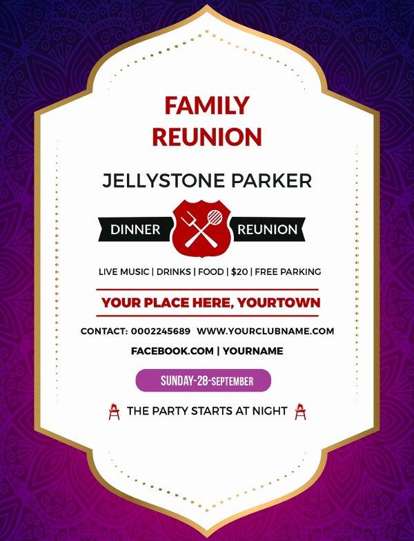 Family Reunion Invitations Templates Unique 34 Family Reunion Invitation Template Free Psd Vector