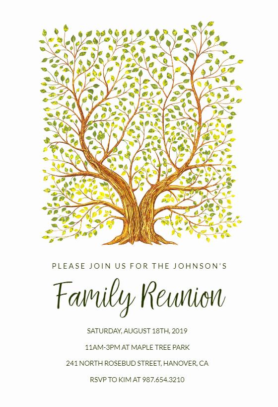 Family Reunion Invitations Templates Unique Familytree Family Reunion Invitation Template Free