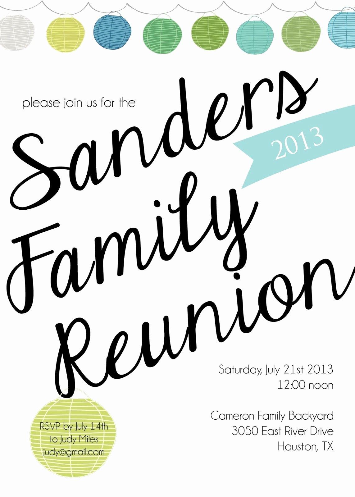 Family Reunion Invitations Templates Unique Sugarhouse Ink Family Reunion Invitations