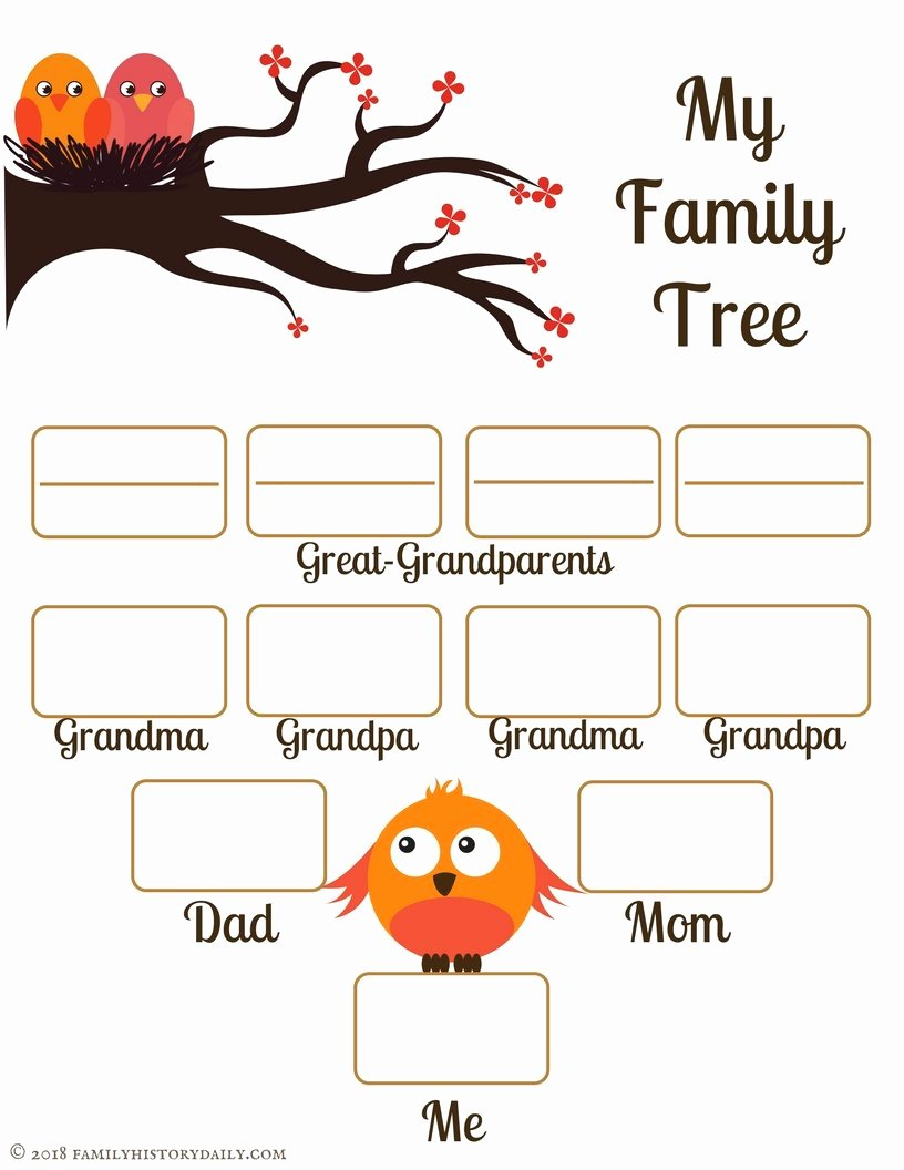Family Tree Template Free Awesome 4 Free Family Tree Templates for Genealogy Craft or