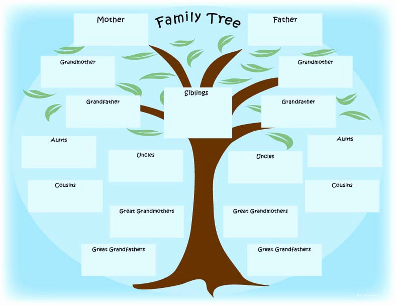 Family Tree Template Free Elegant 15 Free Family Tree Template Chart & Diagram In Pdf