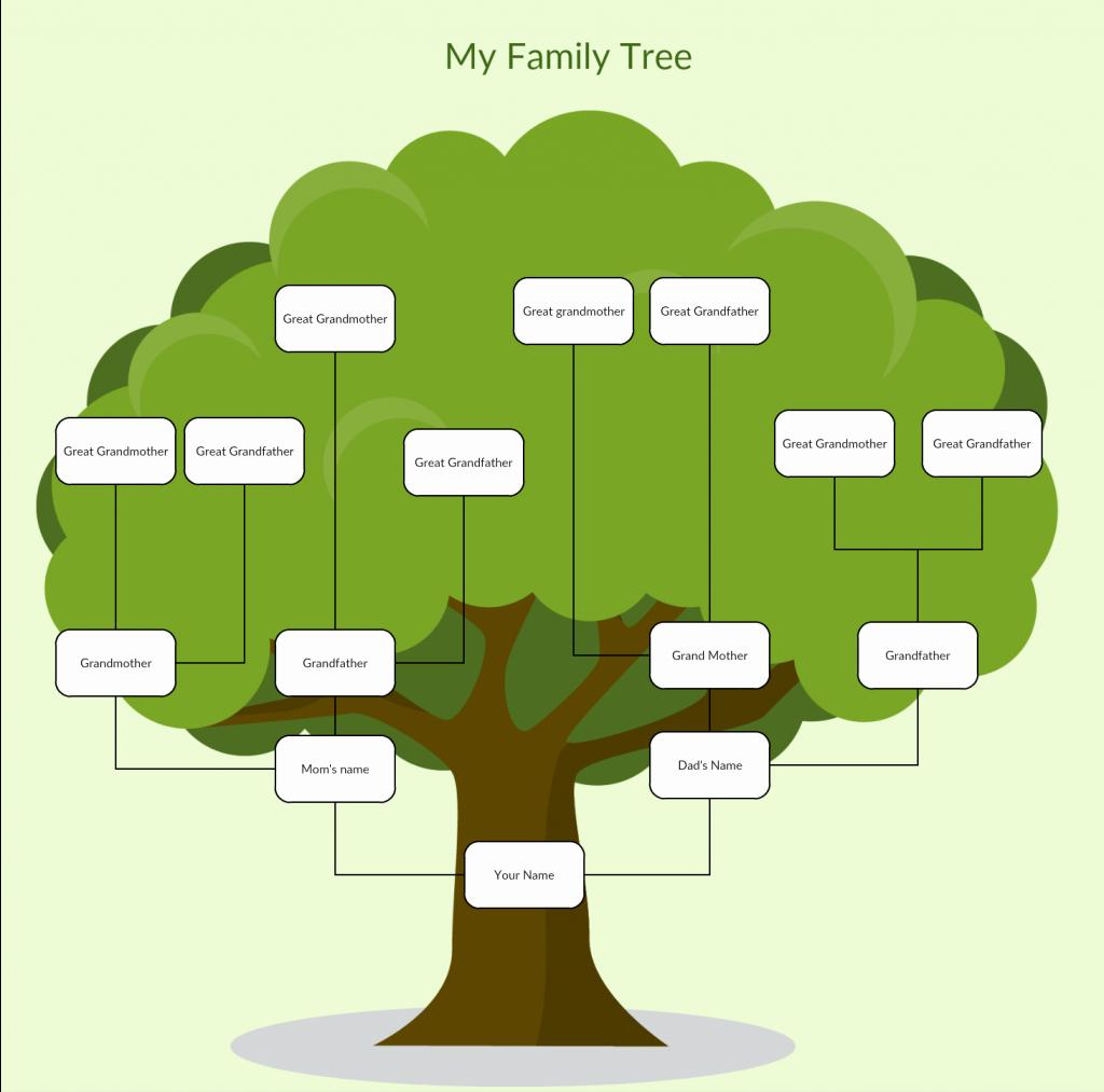 Family Tree Template Free Fresh Family Tree Templates to Create Family Tree Charts Line