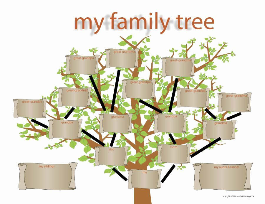 Family Tree Template Free Inspirational 50 Free Family Tree Templates Word Excel Pdf