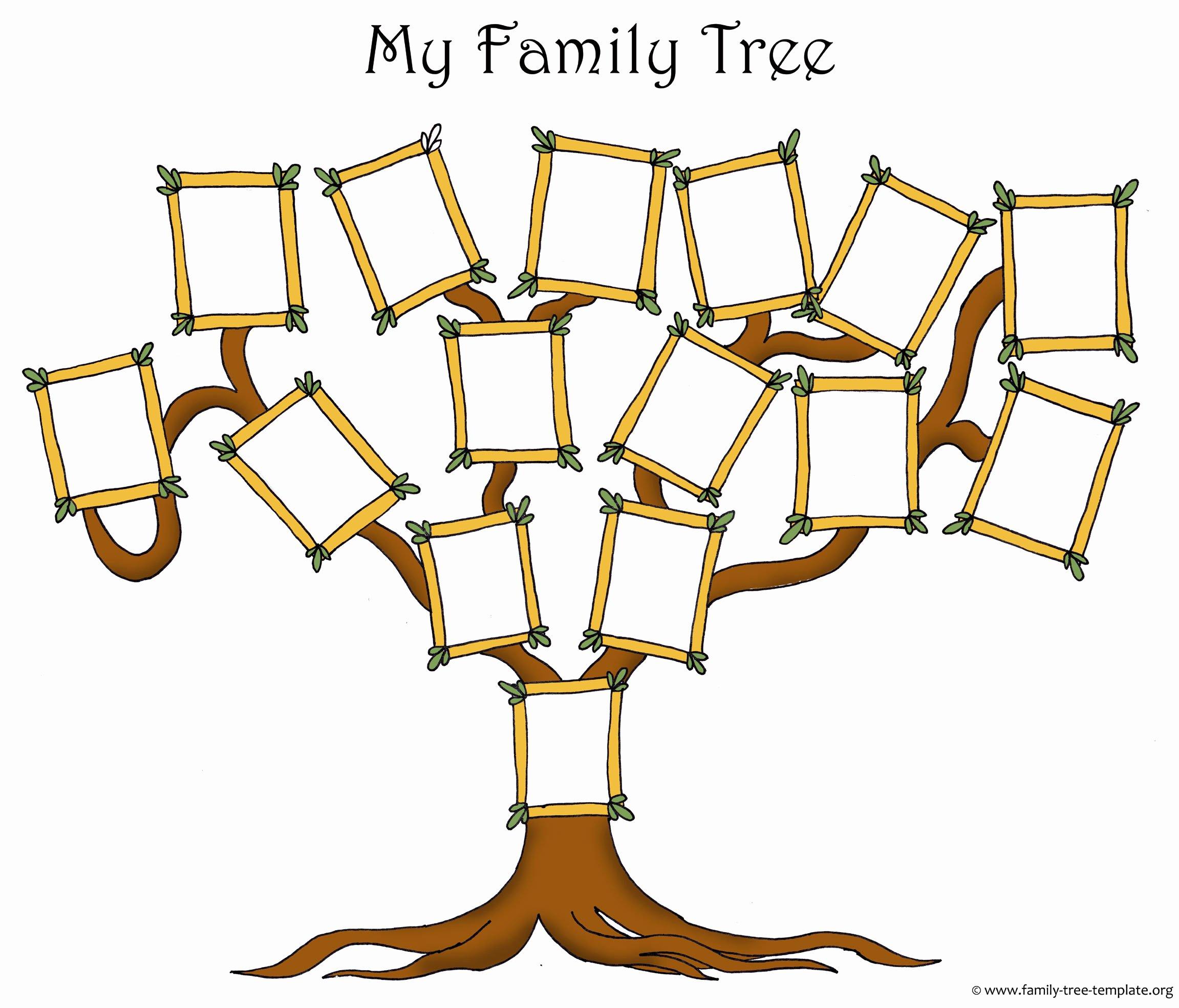Family Tree Template Free Luxury Activities