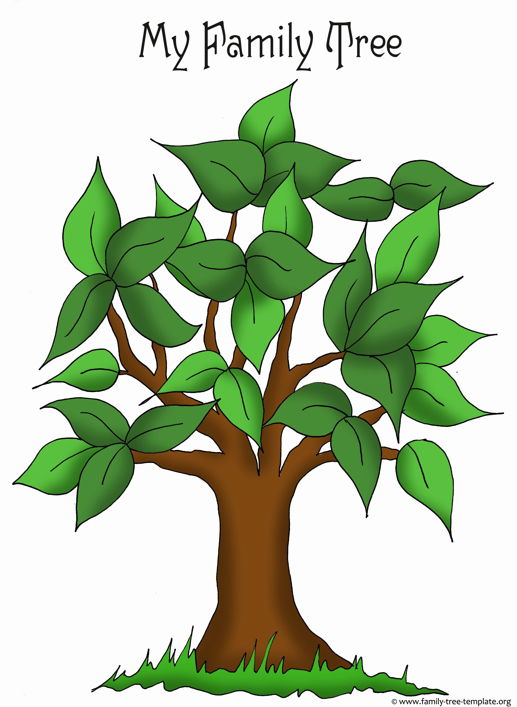Family Tree Template Free Unique Kindergarten News October 2014