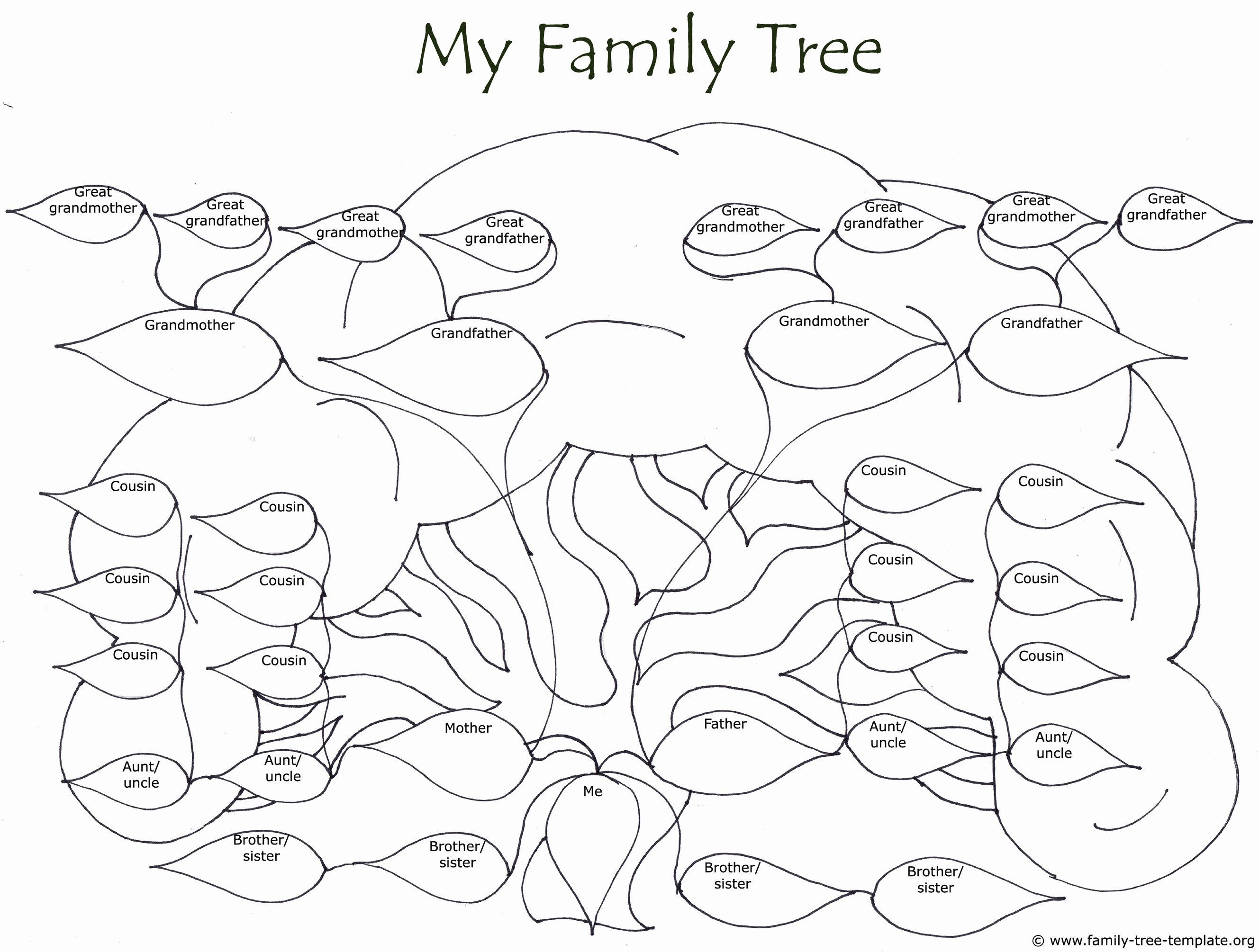 Family Tree Template with Photos Awesome Free Family Tree Drawing at Getdrawings