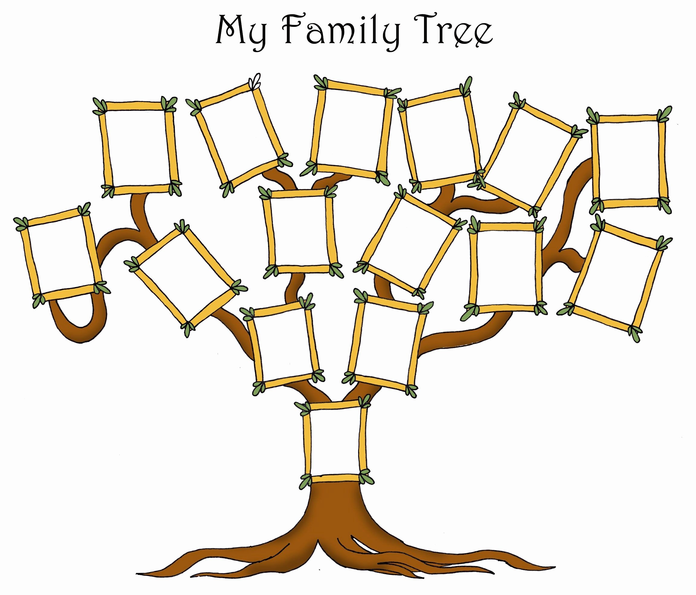 Family Tree Template with Photos Inspirational Free Editable Family Tree Template Daily Roabox