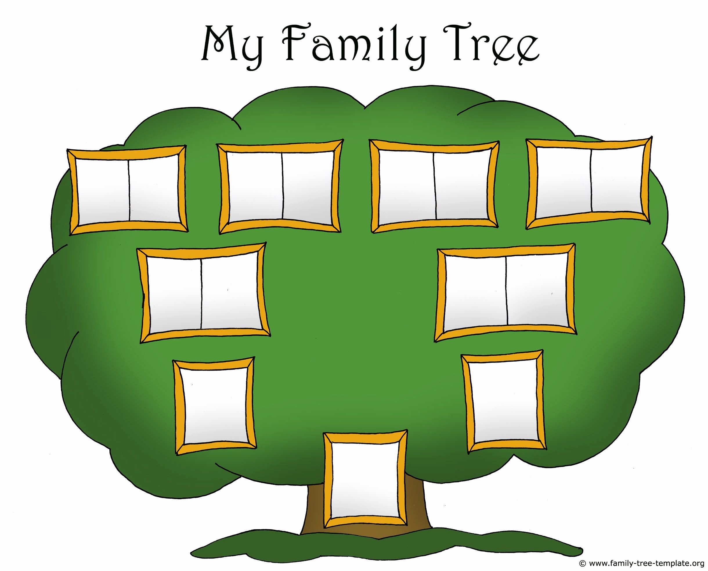 Family Tree Template with Photos Luxury Family Tree Template Chart for Kids with Picture Frames
