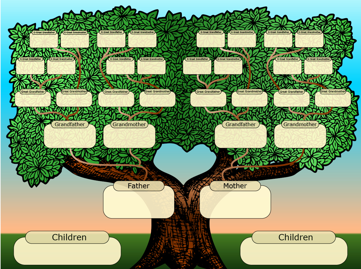 Family Tree Template with Photos New Free Family Tree Templates